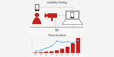 Usability testing Vs. Trend Analysis